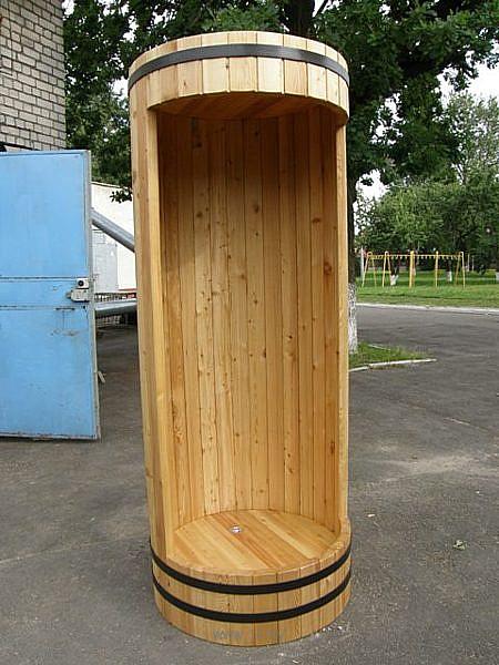 Душевые кабины для дачи из дерева своими руками