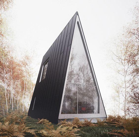 Дом шалаш в поле