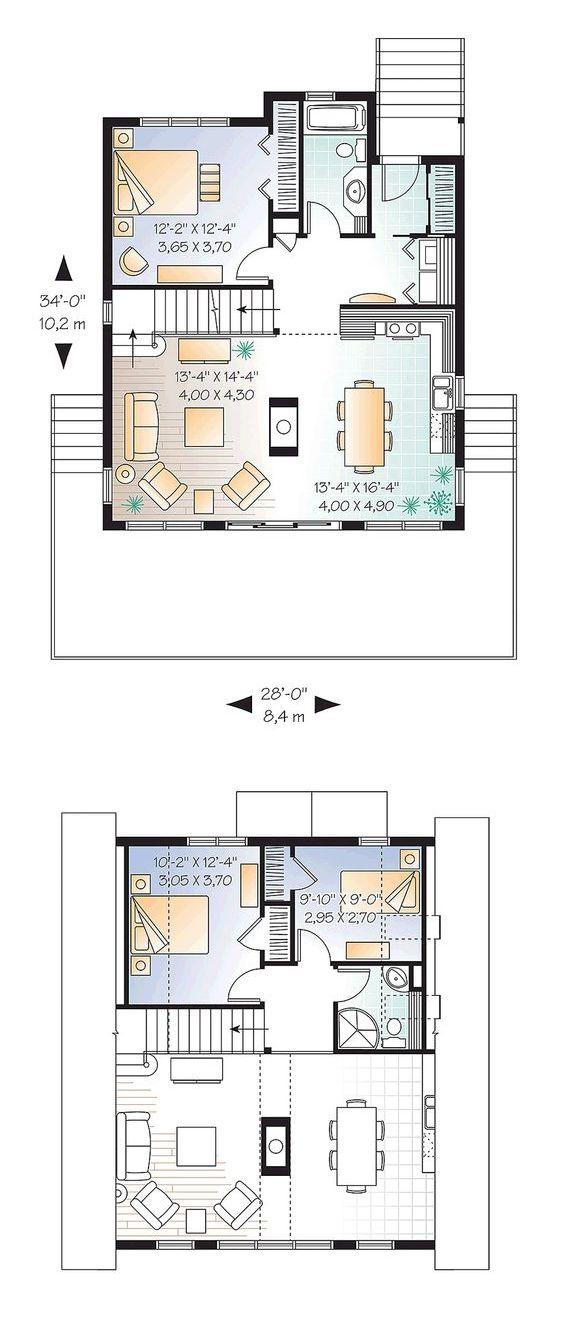 Планировка дома шалаша с расстановкой мебели