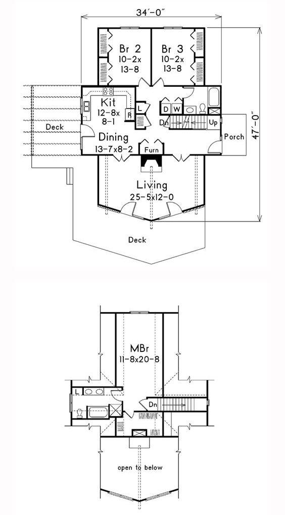 Расстановка мебели в А образном доме план
