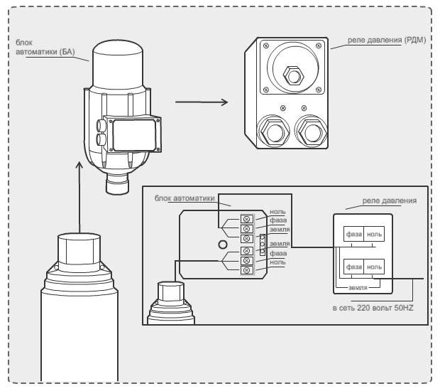 Блок автоматики джилекс схема подключения фото 812