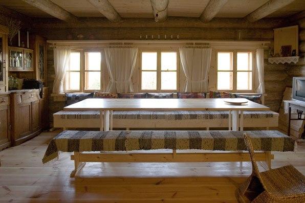 Интерьер деревянного дома в стиле русской избы - дом