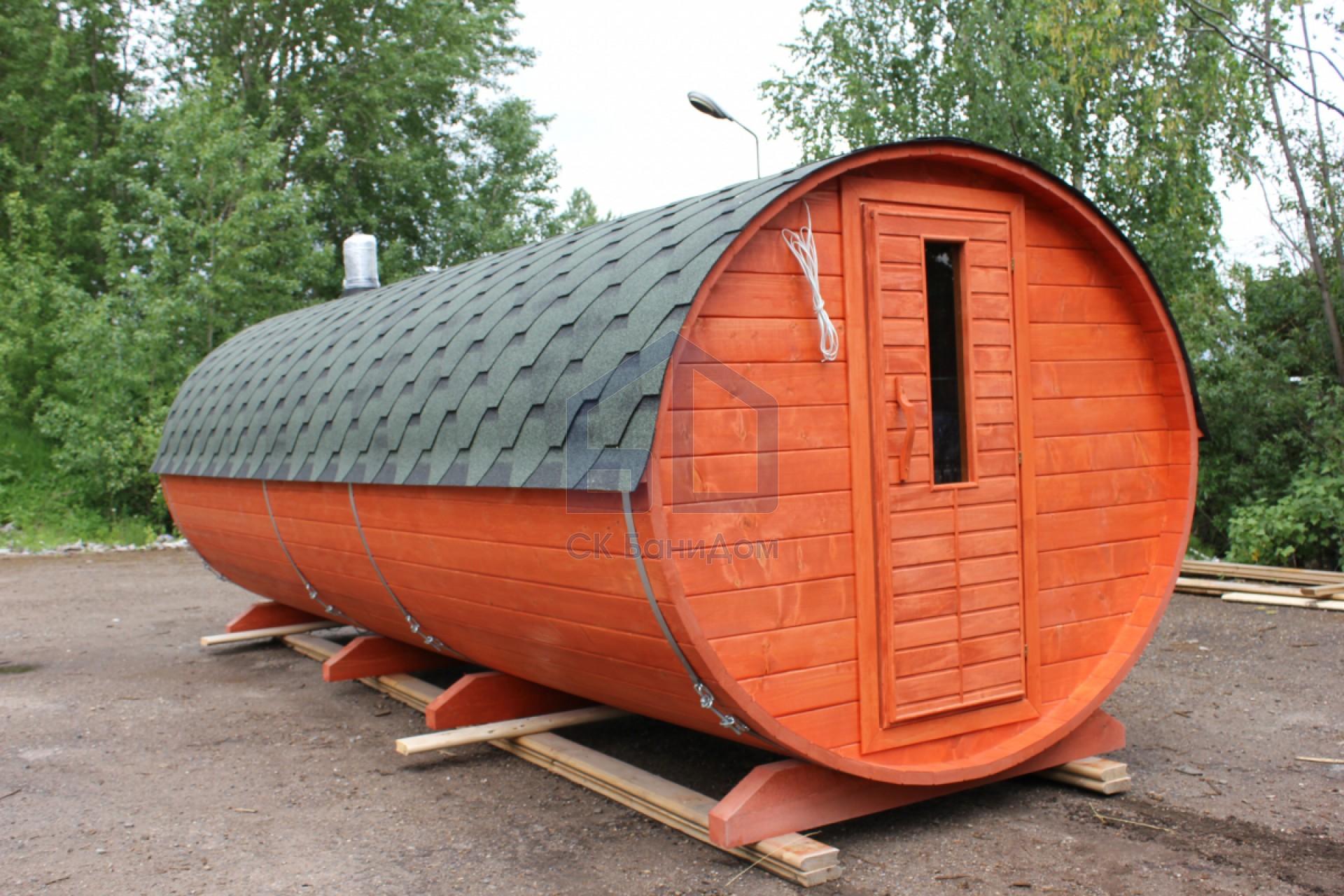 готовые перевозные бани с печкой